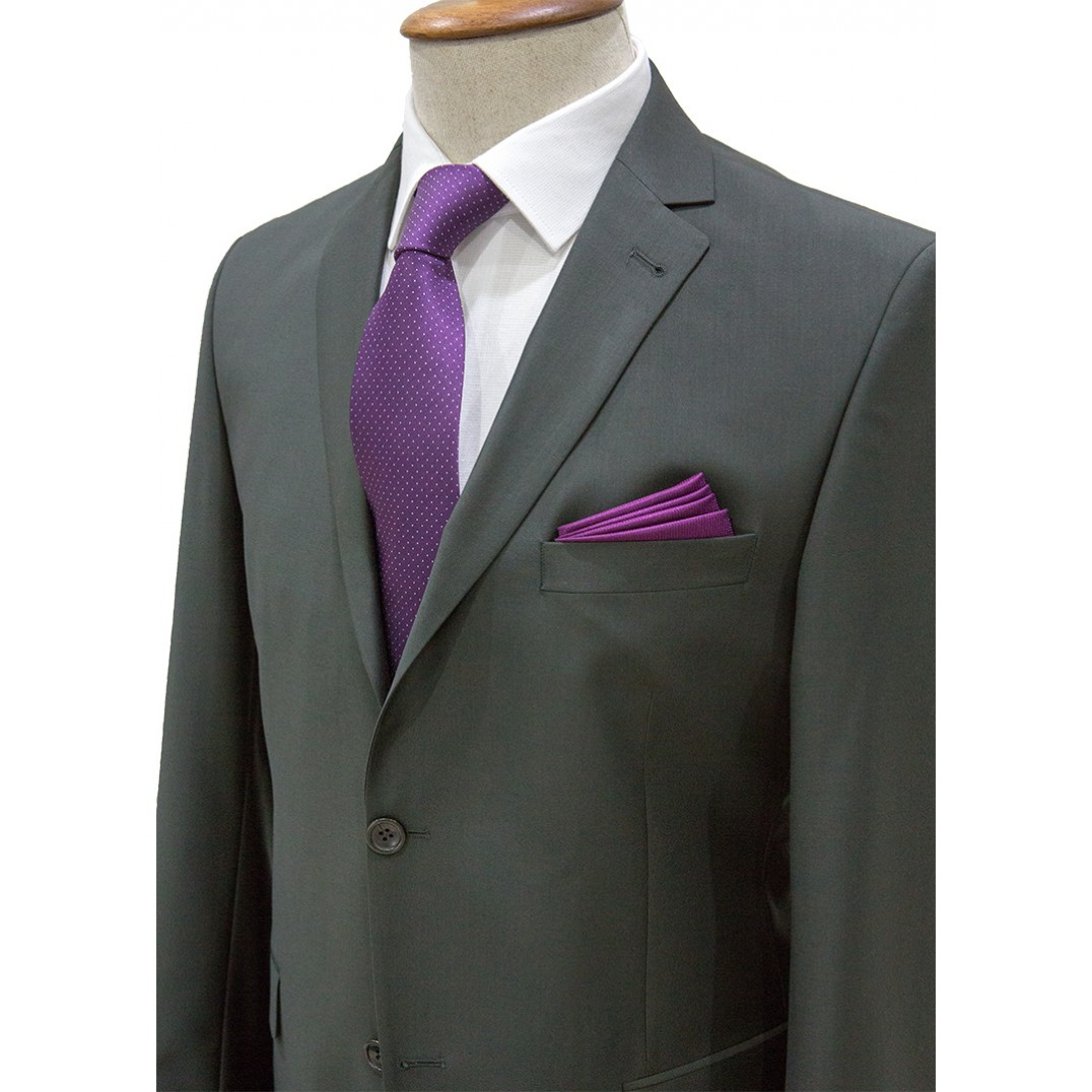 Plain Dark Green Classic Suit