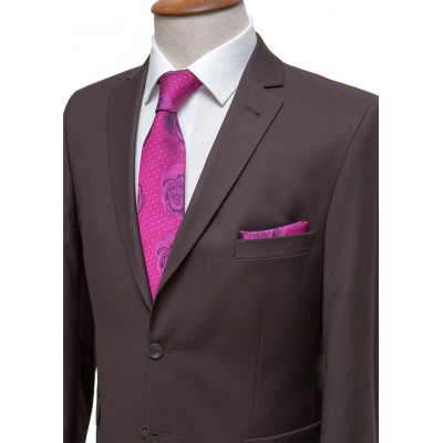 Plain Dark Brown Classic Suit