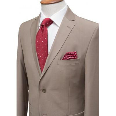 Plain Light Brown Classic Suit