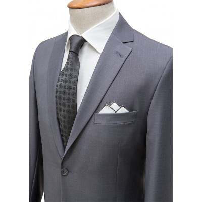 Plain Dark Grey Classic Suit