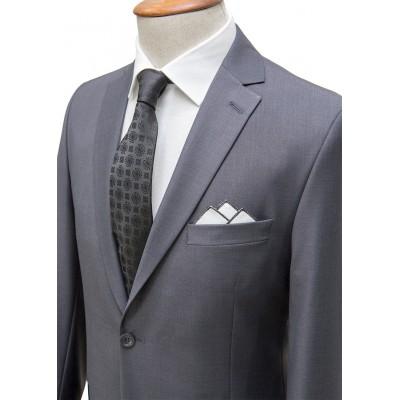 Plain Dark Grey Classic Suit