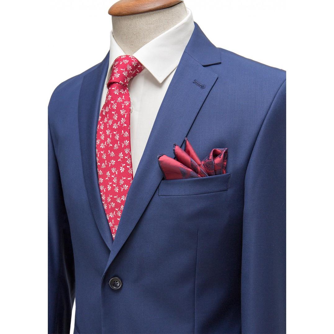 Plain Parliement Blue Classic Suit