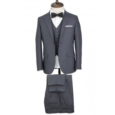 Kids Grey Vested Suit