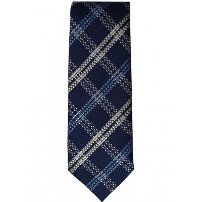 Blue & White Plaid Navy Tie
