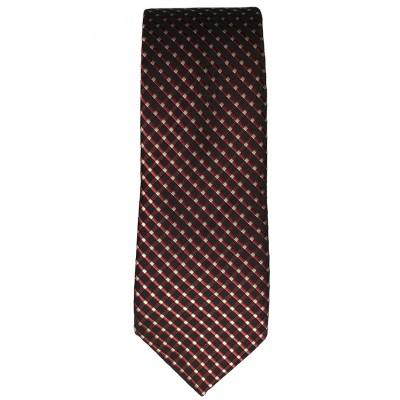 White Plaid Red Tie