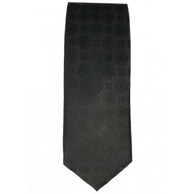 Floral Pattern Black Tie