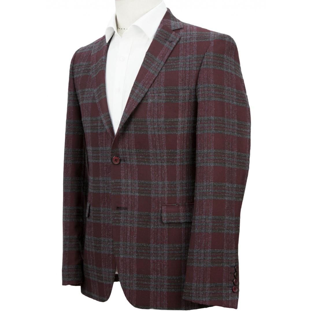 Maroon Plaid Jacket