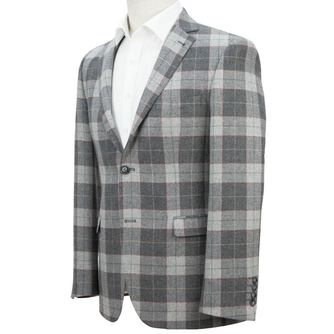 Grey Plaid Jacket