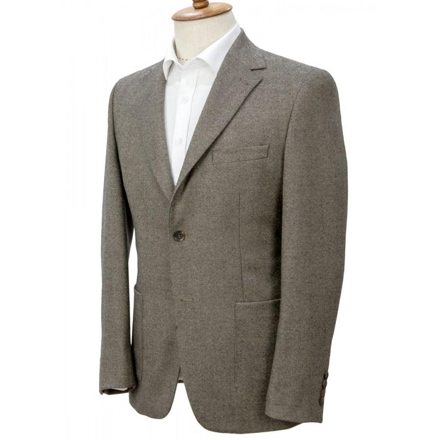 Birdseye Patterned Brown Jacket
