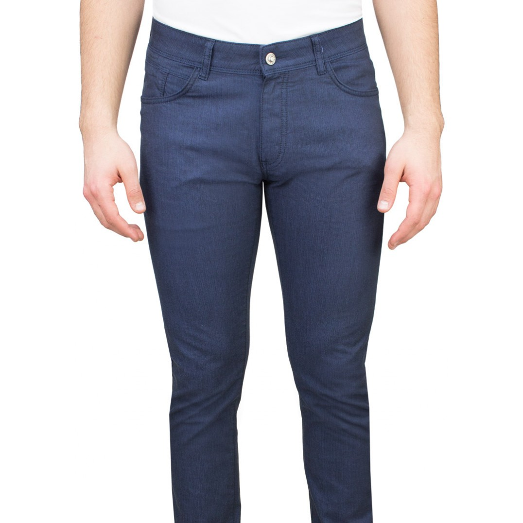 5 Pockets Navy Casual Trousers