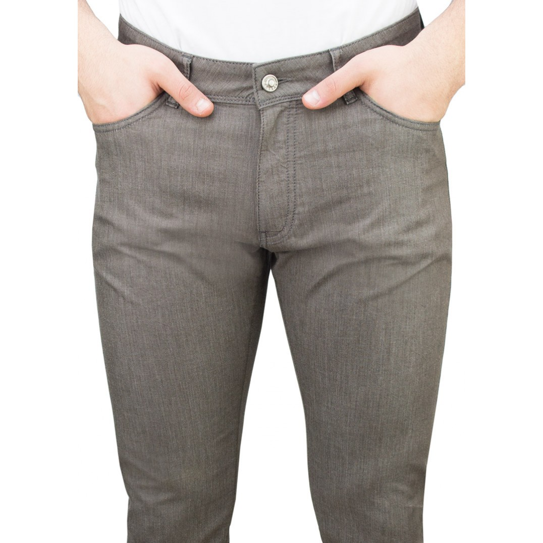 5 Pockets Brown Casual Trousers