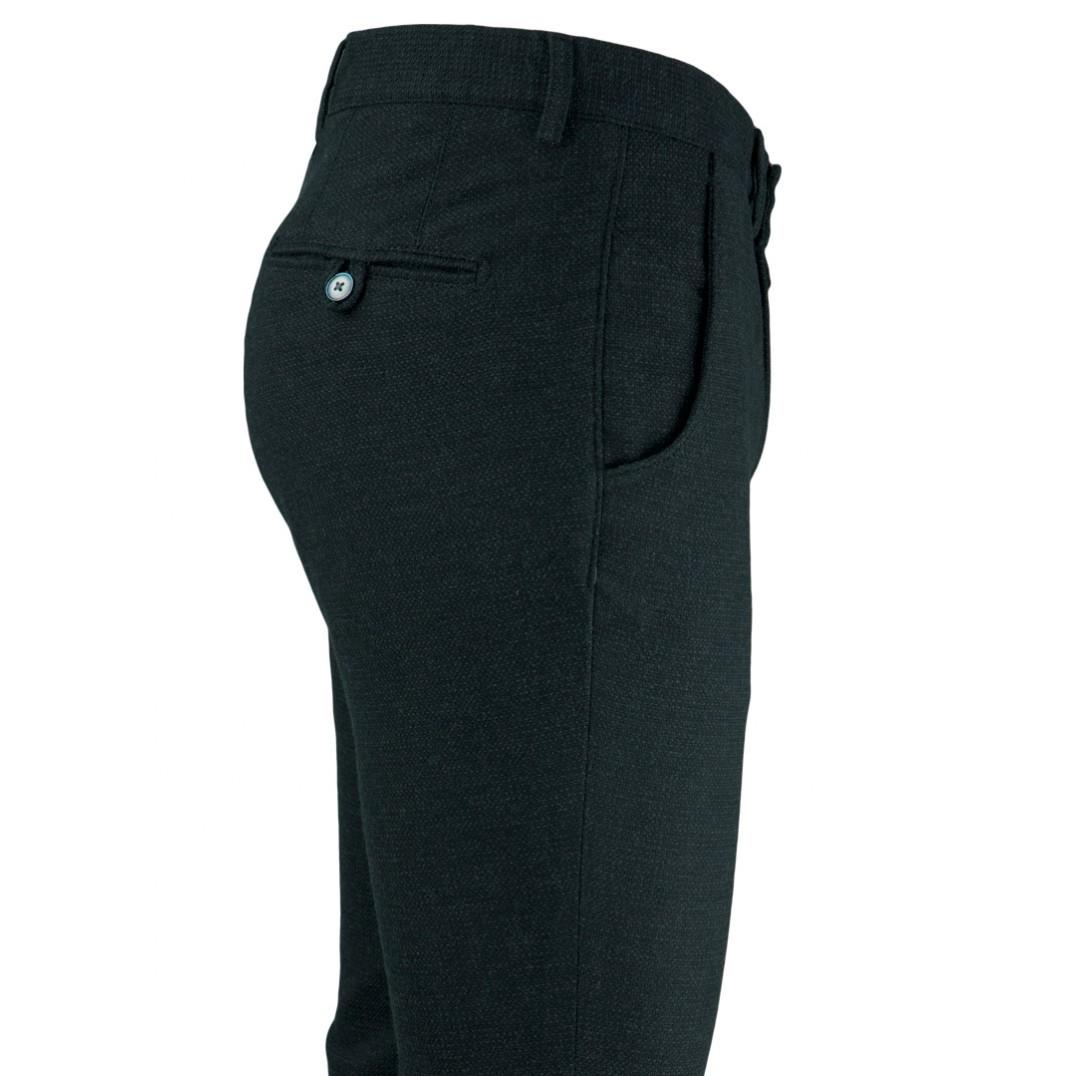 Bird's Eye Black 5 Pockets Casual Trousers