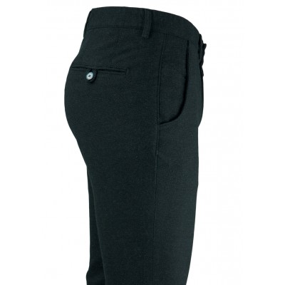 Bird's Eye Black 5 Pockets Casual Trousers