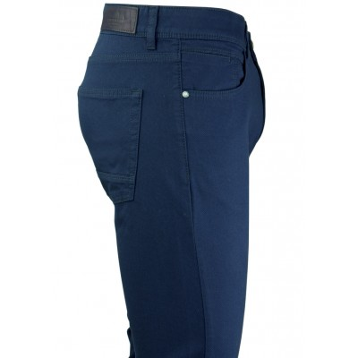 Micro Bird's Eye Navy 5 Pockets Casual Trousers