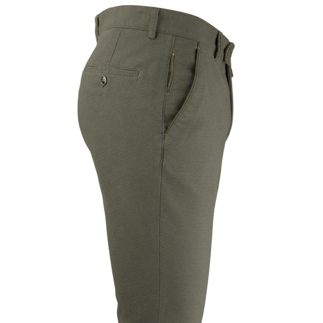 Bird's Eye Green 5 Pockets Casual Trousers