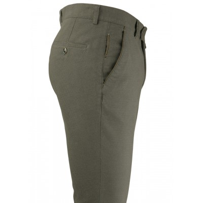 Bird's Eye Green 5 Pockets Casual Trousers