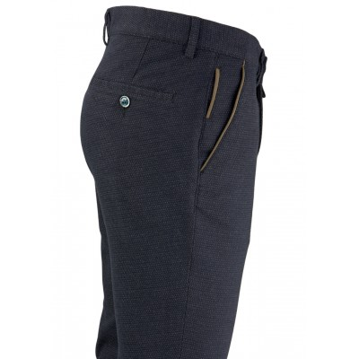 Bird's Eye Navy Blue 5 Pockets Casual Trousers