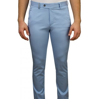 Light Blue 5 Pocket Casual Trousers