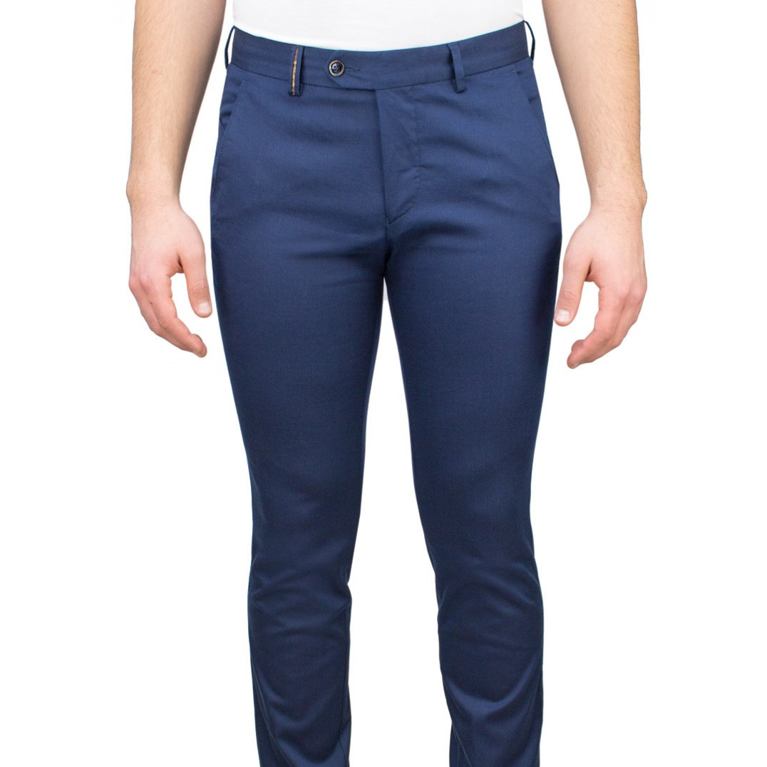 Navy Blue 5 Pocket Casual Trousers