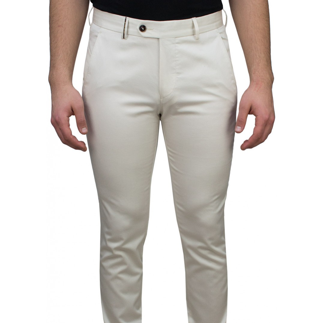 Beige 5 Pocket Casual Trousers