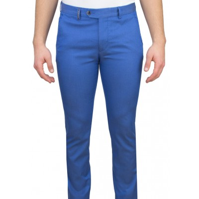 Blue 5 Pocket Casual Trousers