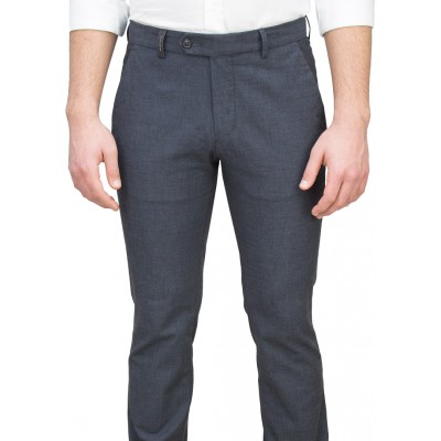 5 Pockets Black Casual Trousers