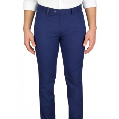Navy 5 Pockets Casual Trousers