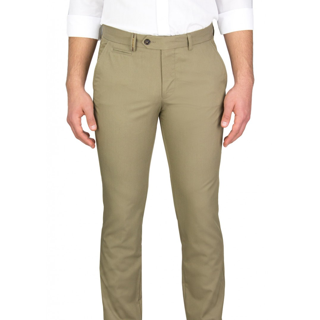 Green 5 Pockets Casual Trousers