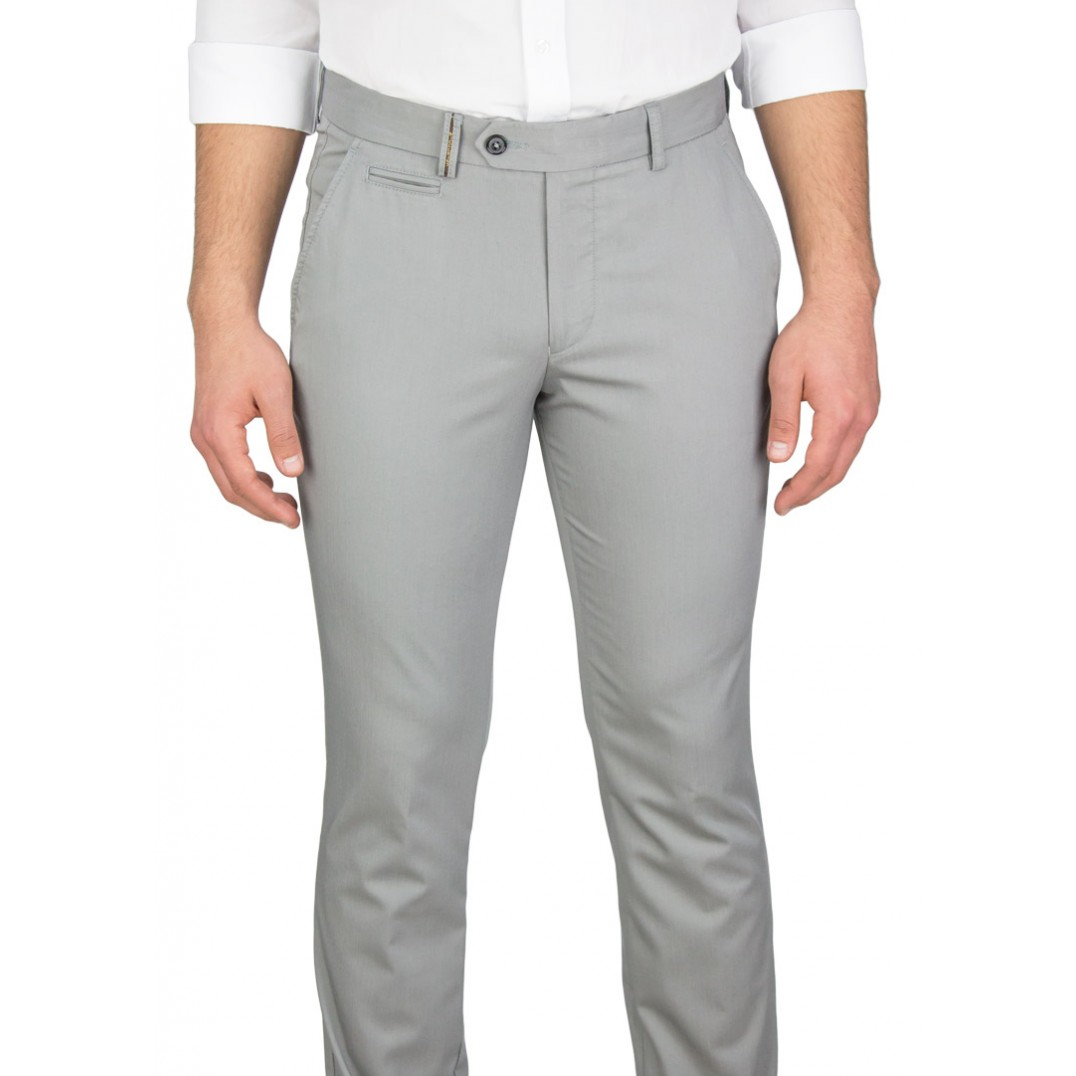 Grey 5 Pockets Casual Trousers