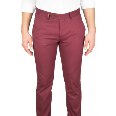 Claret Red Casual Trousers