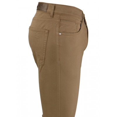 Plain Light Brown 5 Pockets Casual Trousers