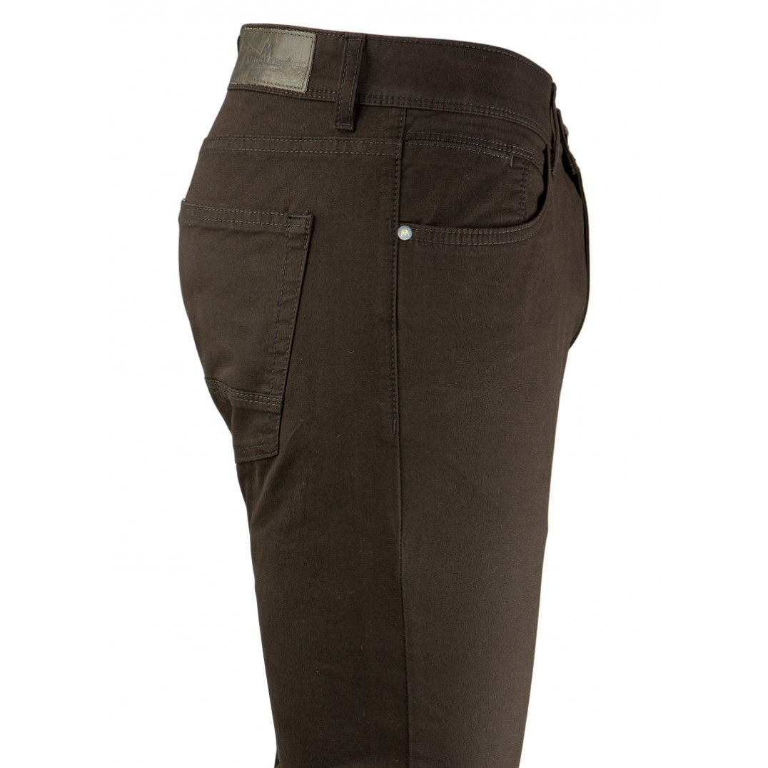 Plain Brown 5 Pockets Casual Trousers