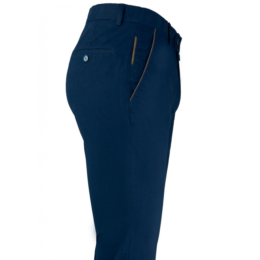 Plain Navy Blue 5 Pockets Trousers