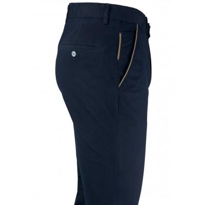 Plain Dark Navy Blue 5 Pockets Trousers