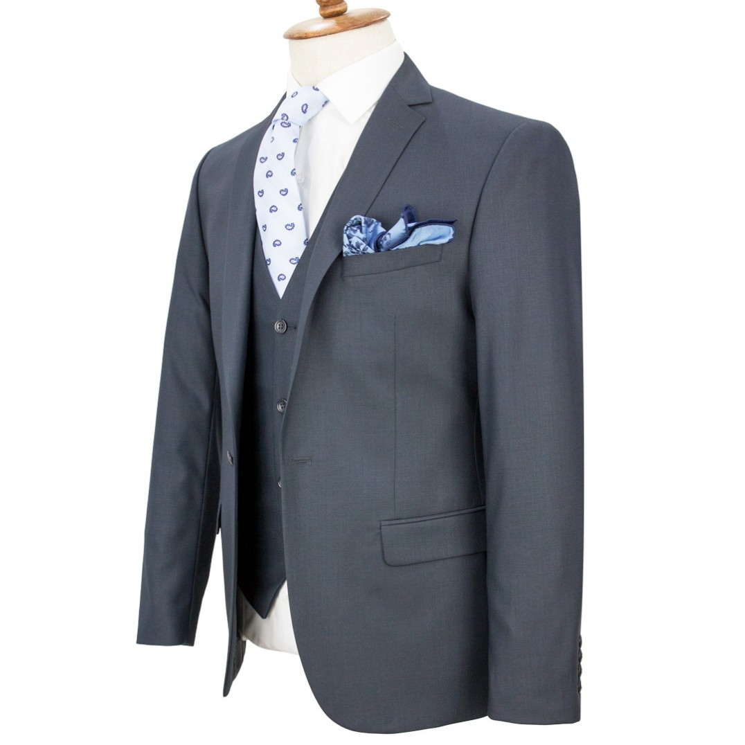 Smoked Color Vested Suit