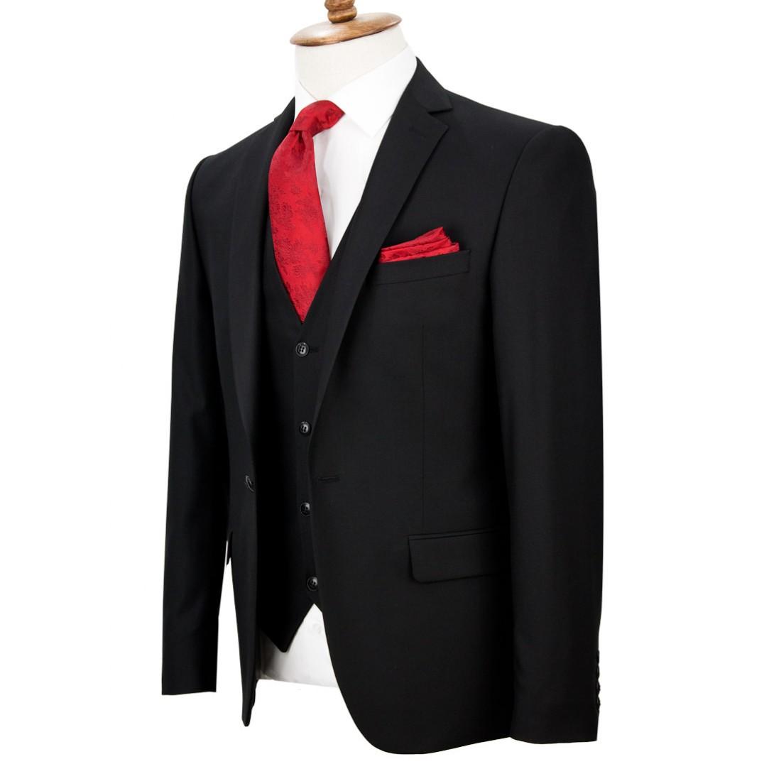 Black Vested Suit