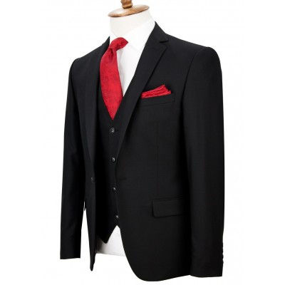 Black Vested Suit