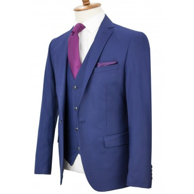 Parliement Blue Vested Suit