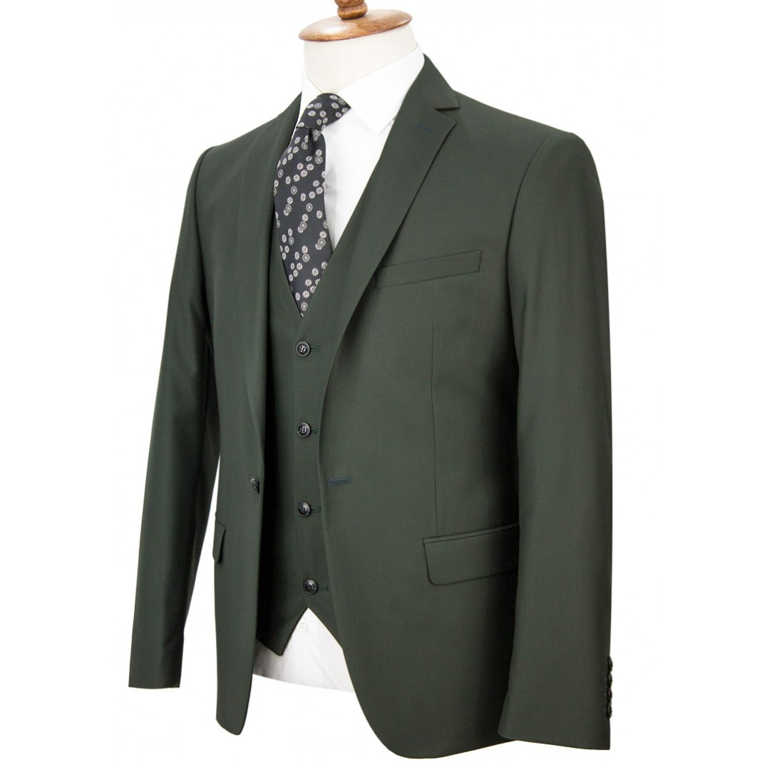 Green Vested Suit