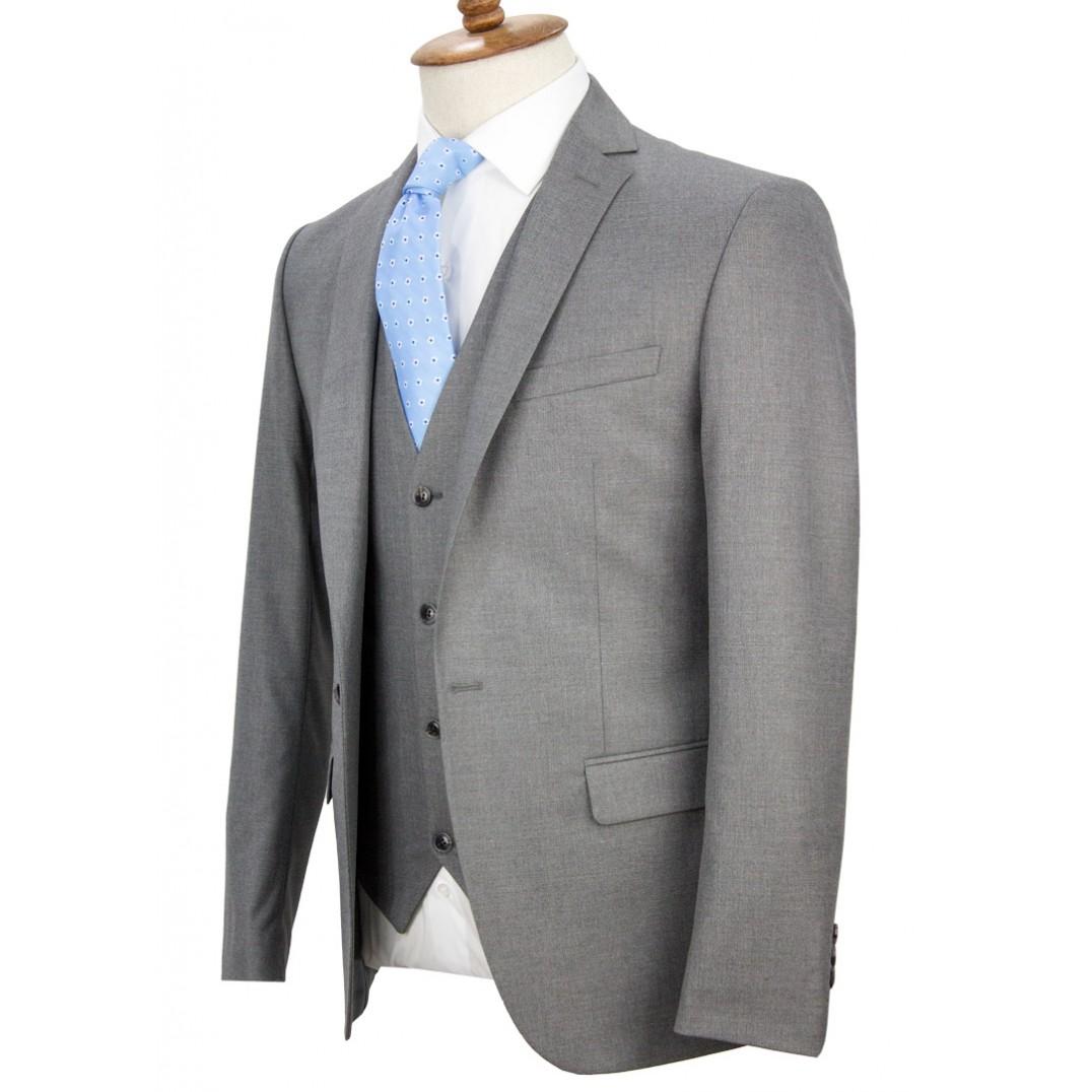Light Grey Vested Suit