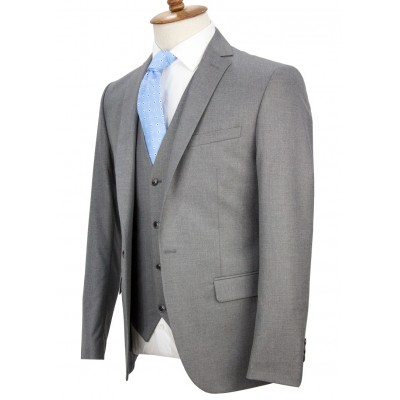 Light Grey Vested Suit