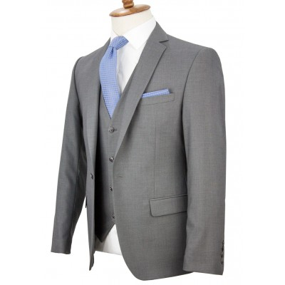 Grey Vested Suit