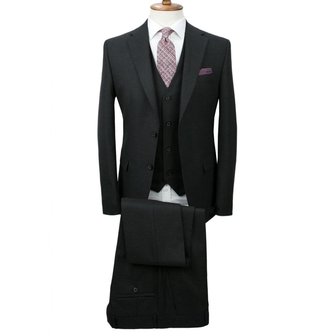 Antrasit Grey Vested Suit