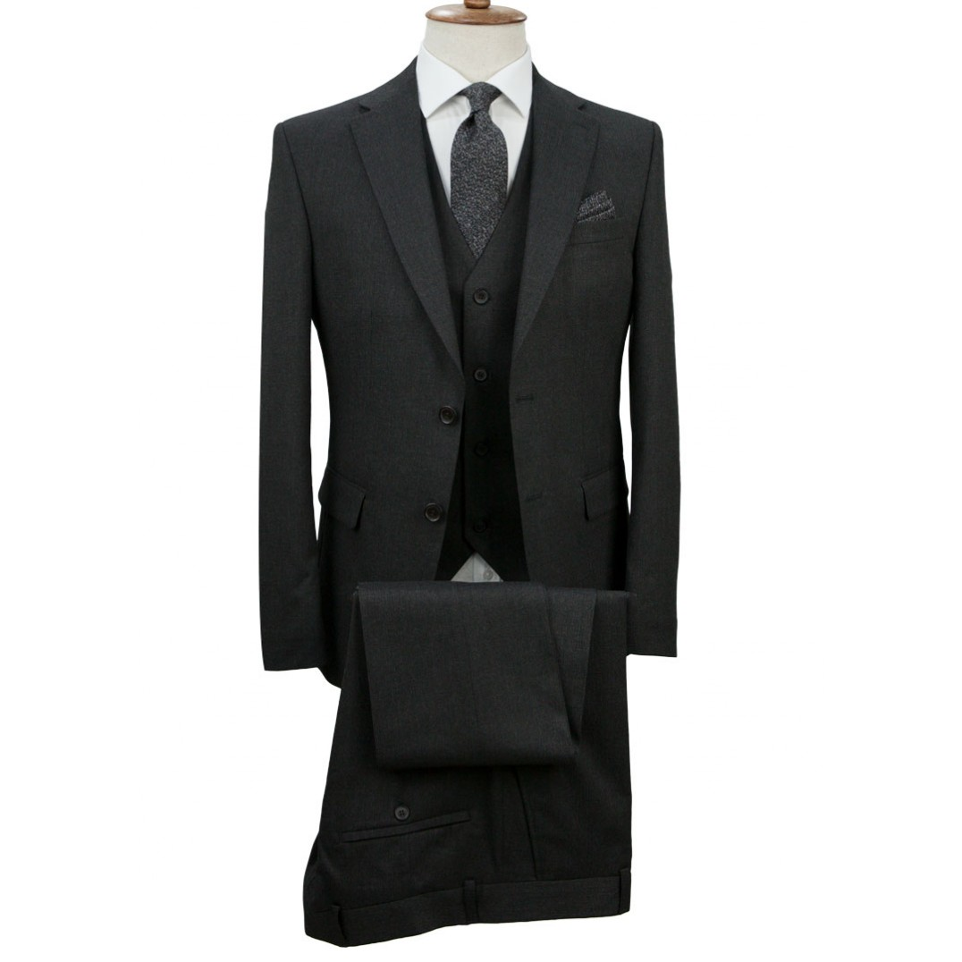 Dark Grey Vested Suit