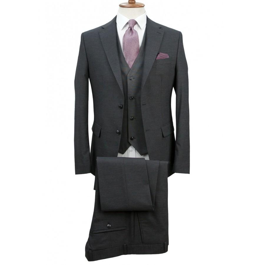 Antrasit Grey - Birdseye  Vested Suit