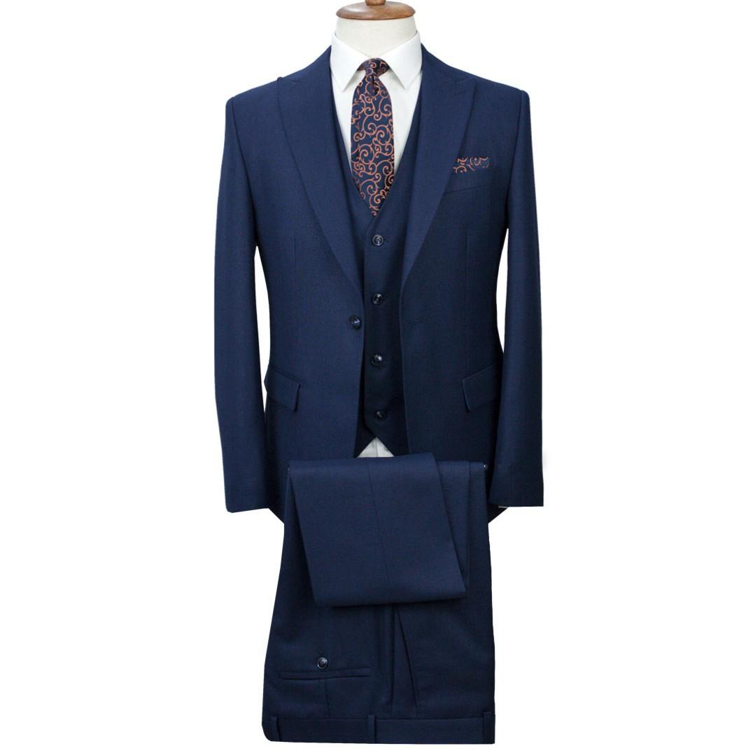 Navy Blue - Vested Suit