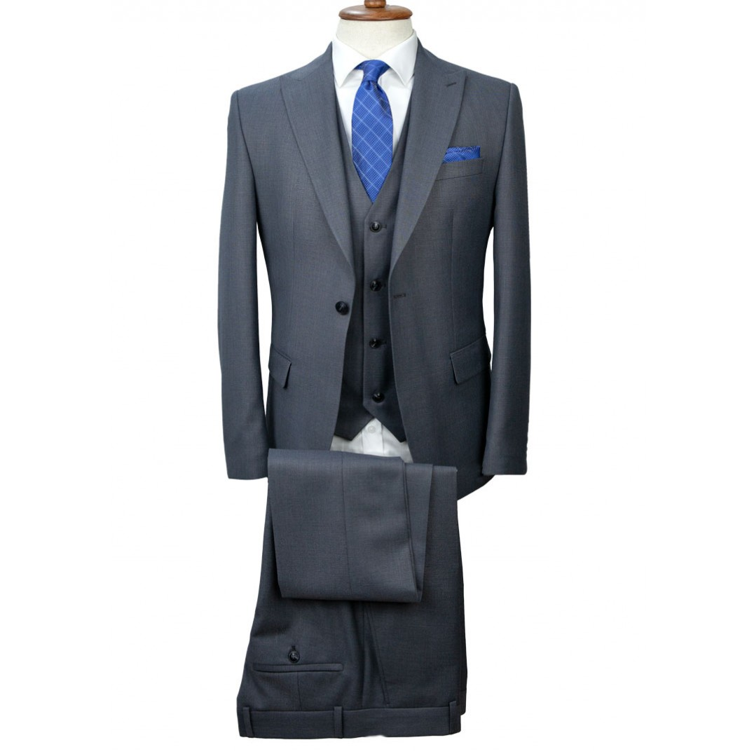 Grey - Vested Suit
