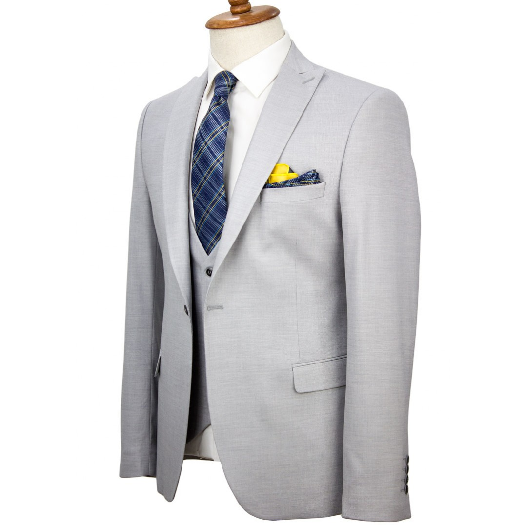 Ligth Grey Vested Suit