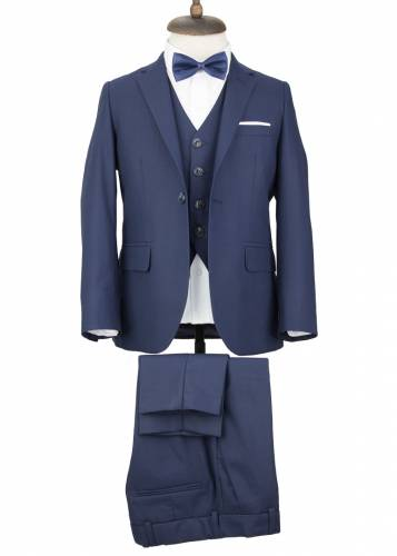 Kids Navy Vested Suit