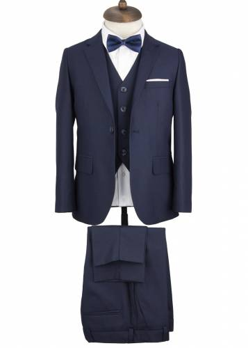 Kids Dark Navy Vested Suit